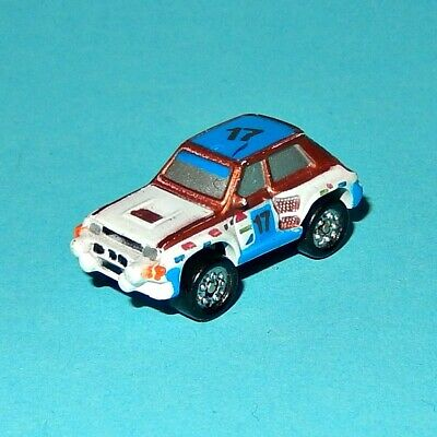 MICRO MACHINES - RENAULT 5 TURBO RALLY CAR white/blue #17 - SUN COLOR CHANGERS