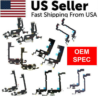 For iPhone 11 PRO X XS XR XS MAX Charger Charging Port Mic Audio Jack Flex Cable