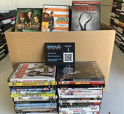 LOT OF 120 DVD MOVIES - 120 BULK DVDS - USED DVD MOVIE LOT - WHOLESALE