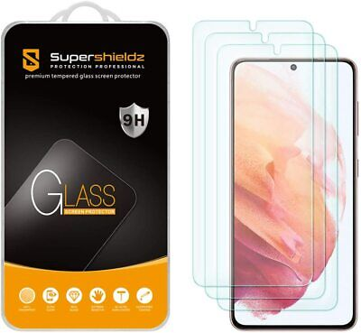 3-Pack Supershieldz Tempered Glass Screen Protector for Samsung Galaxy S21 5G