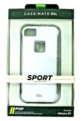Case Mate White Cool Grey Pop Case for Apple iPhone 5c Sport Collection