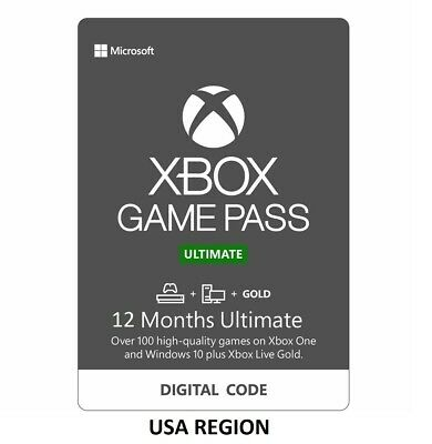 USA Region - 12 Months Xbox Game Pass Ultimate - Live Gold - Game Pass