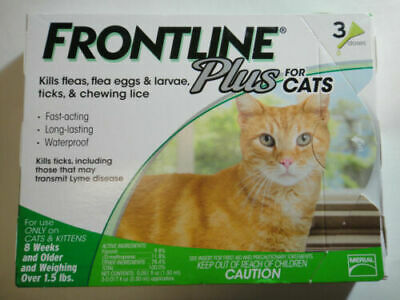 Frontline Plus Flea and Tick Control Treatment for Cats - Kittens 3 Doses Supply
