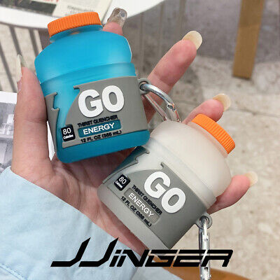 JJINGER For AirPods 2  1 Silicone Case Shockproof Cover - Keychain Energy Drink