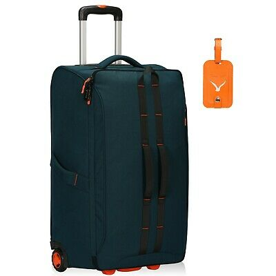 64L Anti Theft Rolling Flight Approved Travel Soft Suitcases Carry on Luggage