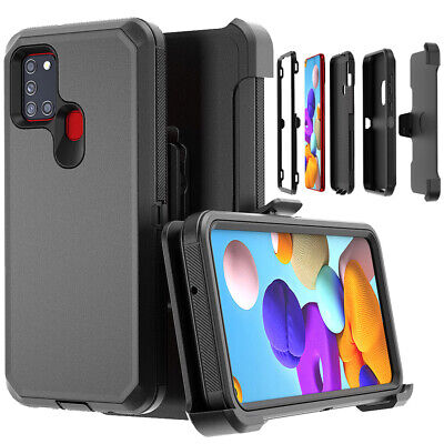 For Samsung Galaxy A21S Heavy Duty Case Cover With Belt Clip Stand Fits Otterbox
