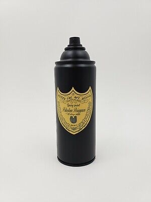 Graffiti original dom perignon art Spray Paint Can by Nyc street artist PUKE-