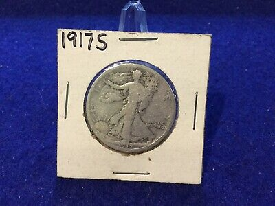 1917-S Reverse Walking Liberty Silver Half Dollar Very Good Better Date