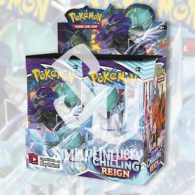 Pokemon TCG CHILLING REIGN Booster Box FACTORY SEALED 36 Packs PRESALE 061821