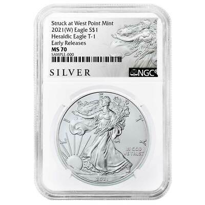 2021 (W) $1 American Silver Eagle NGC MS70 ALS ER Label