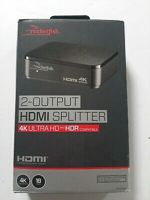 Rocketfish RF-G1603 2-Output HDMI Splitter with 4K Ultra HD HDR excellent condit