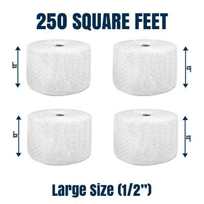 Bubble Cushioning Wrap 12 250 ft² x 12 Perforated Every 12 LARGE BUBBLE