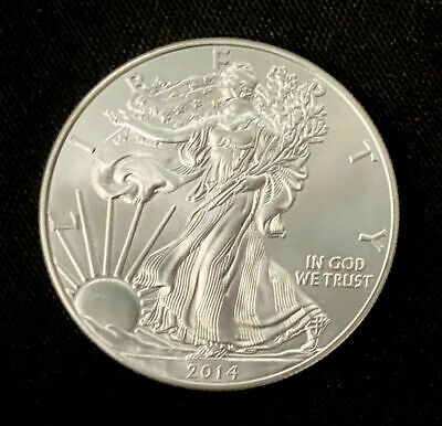US Mint Silver Eagle .999 Silver BU Date of my choice Free Shipping