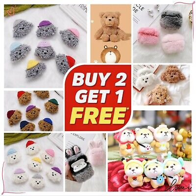 For AirPods PRO  2  1 Silicone Case Shockproof Cover Plush Cute Cartoon Toy
