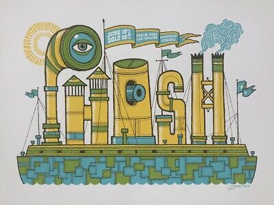 PHISH Portsmouth 2012 screen printed concert poster RARE