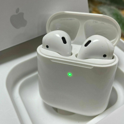 White Apple Airpods 2nd Generation With Wireless Charging Case In Ear Headphones