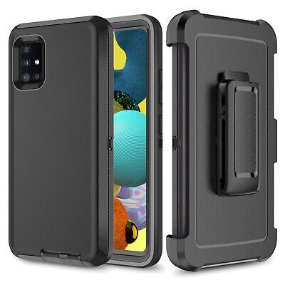 For Samsung Galaxy A51 A71 A52 A72 5G Heavy Duty Case-Belt Clip Fits Otterbox