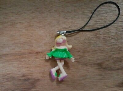 New 3D Blonde Girl Green Top Cell Phone Charm Strap