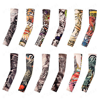 12-Pack Tattoo Cooling Arm Sleeves Cover Basketball Golf Sport UV Sun Protection
