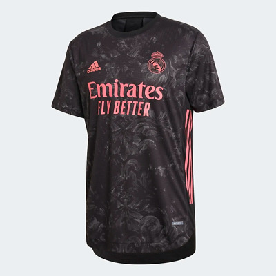 Adidas Mens Real Madrid 2021 Third Authentic Jersey Black