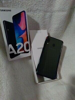 Samsung galaxy A20 Complete 𝕌𝕟𝕝𝕠𝕔𝕜 Set Box And Booklets And Fast Charger