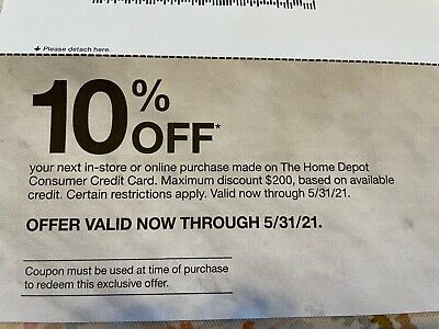 Home Depot Coupons 10 off