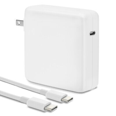 96w USB-C Power Adapter Charger PD 3-0 for Mac Pro 13 15 16 inch 2016-2020