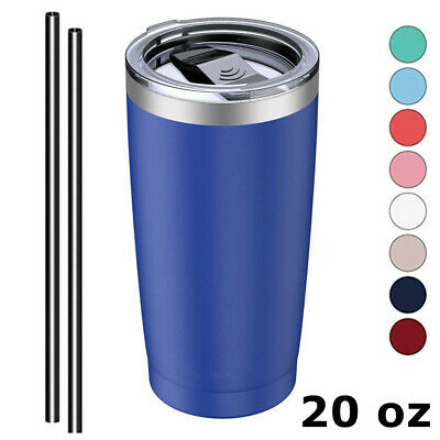 20oz Stainless Steel Tumbler Vacuum Insulated Cup Drink Mug Lid and Straw 8Color