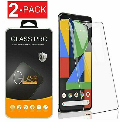 2-Pack Premium Tempered Glass Screen Protector For Google Pixel 4 4a 4 XL