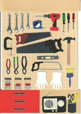 Papyrus Fathers Day card -3D All the Tools in the Workshop to my Wonderful Dad