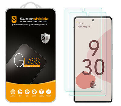 2-Pack Supershieldz Tempered Glass Screen Protector for Google Pixel 6
