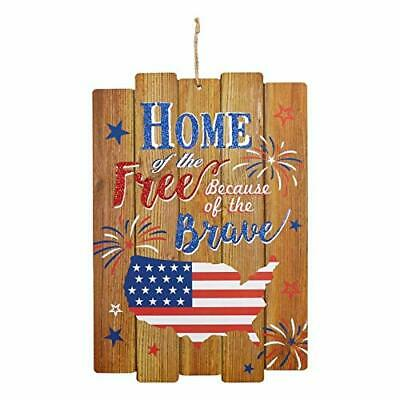 Home of The Free Because of The Brave Patriotic Fourth of July Memorial Day G-