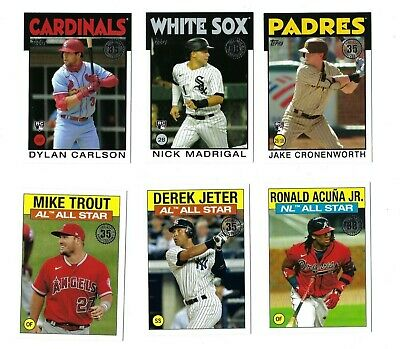 1986 Topps Insert Complete Your Set 2021 Topps Series 2 You U Pick Choice