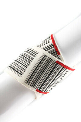 Designer Printed And Embroidered LAX Airport Bracelet White Black