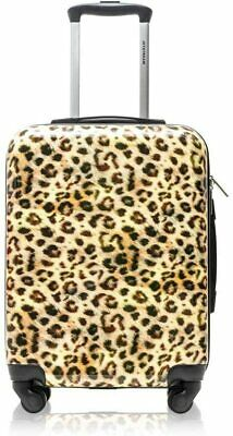 Jetstream Leopard Print Rolling Luggage Hardside Spinner Carry-On Suitcase