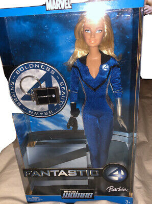 NIB Barbie Doll as Invisible Woman from Marvel Fantastic 4 2005