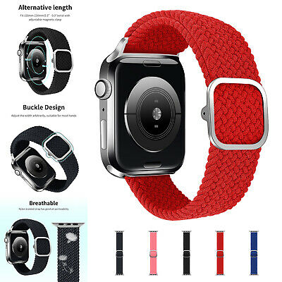 Nylon Leather Sport Band Strap For Apple Watch Series 6 5 4 SE 321 38404244mm