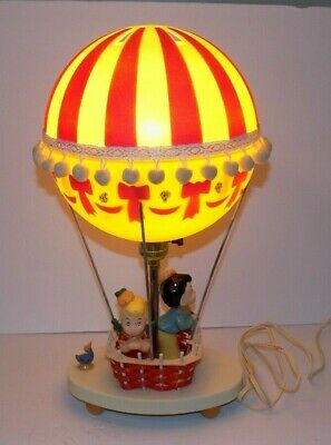 Vintage 1970s Dolly Toy Co- Hot Air Balloon Lamp Night Light Works