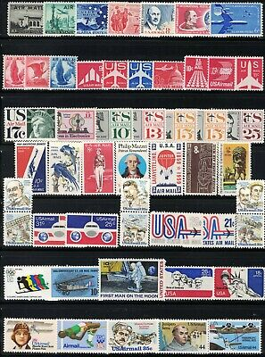 U-S- MNH 50 DIFFERENT VINTAGE U S AIRMAIL STAMPS FROM 1947 THROUGH 1985 MNH