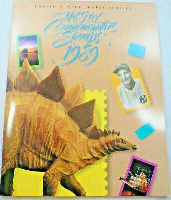 1989 Mint Set Commemorative USPS Yearbook Album with Stamps Free Shipping