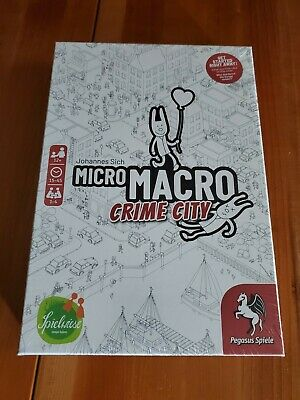 MicroMacro Crime City Board Game - New in Shrink | In hand | Spiel de Jahres