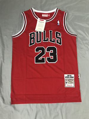 NWT-NBA-Michael Jordan 23 MENS Stitched Red Chicago Bulls Jersey Fast Shipping