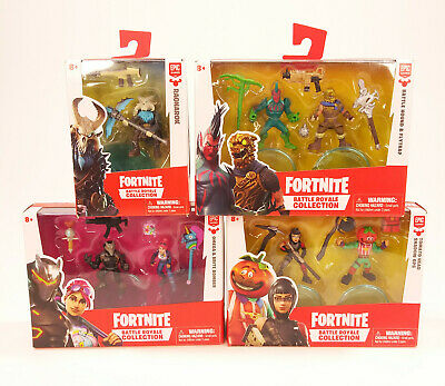 Lot of 4 Asst- Fortnite Battle Royale Collection 2 Action Figures 2018 New