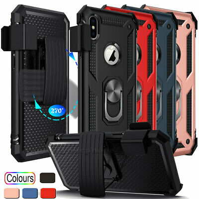 For Apple iPhone X XR XS Max Shockproof Hard Rugged Case Cover With Belt Clip