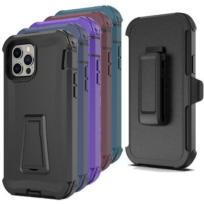 For iPhone 12 Pro Max 7 8 Plus 11 XR Shockproof Case Rugged Hard Cover-Belt Clip