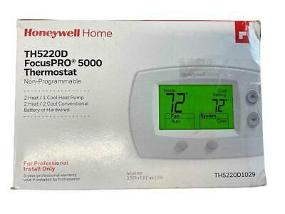 NEW Honeywell FocusPRO 5000 TH5220D1029 Non-Programmable Thermostat 2 Heat 1 Co