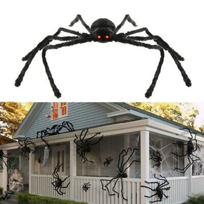 Giant- Spider Halloween Decoration Haunted House Prop Outdoor Scary Party Decor