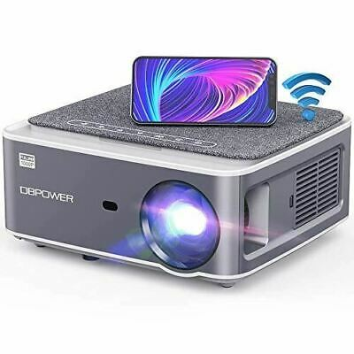 Native 1080P WiFi Projector with Smart Phone/Laptop/PC/DVD/TV/PS4