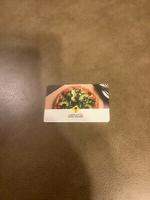 50 CALIFORNIA PIZZA KITCHEN PHYSICAL GIFT CARD