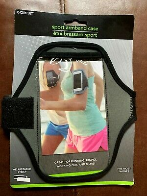 Universal Sports Running Arm Band Phone Case Holster Adjustable GRAY  BLACK NEW